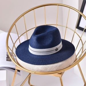 Accessories - Quality - Unisex Panama Hat - Navy -  Adjustable